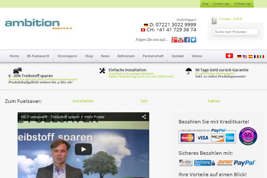be-fuelsaver.net Gutschein