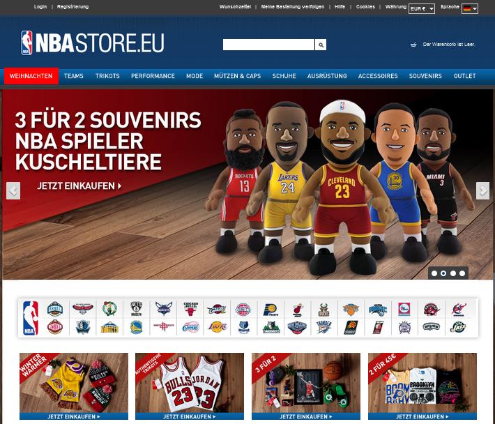 NBAstore.eu Gutschein