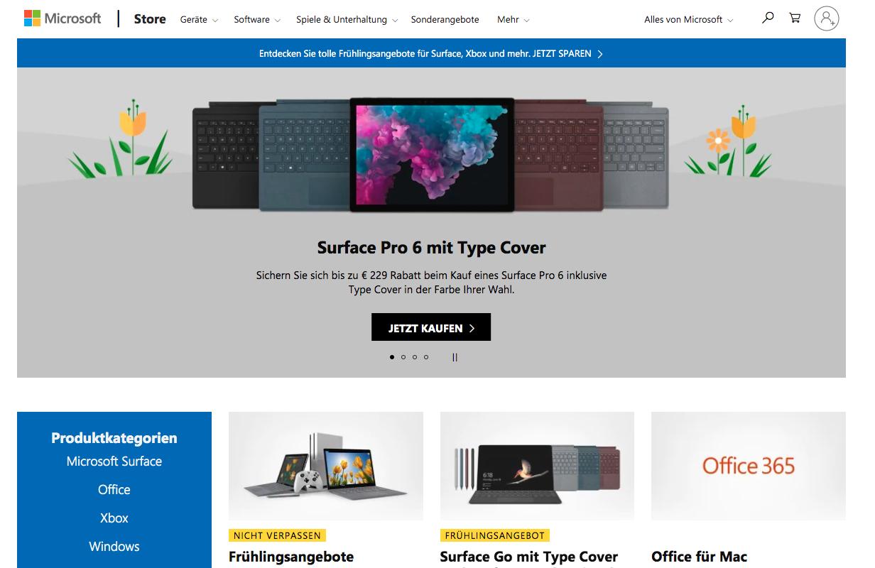 Microsoft Store AT Gutschein