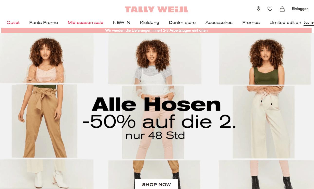 Tally Weijl Gutschein