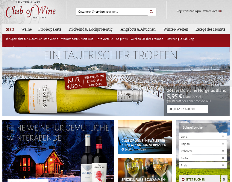 Club of Wine Gutschein