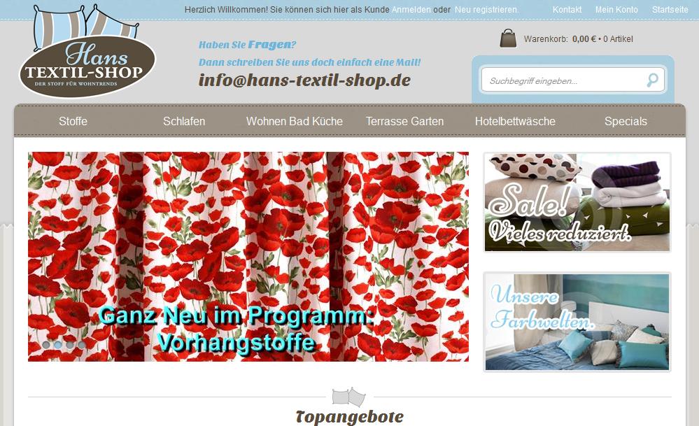 Hans-textil-shop.de Gutschein