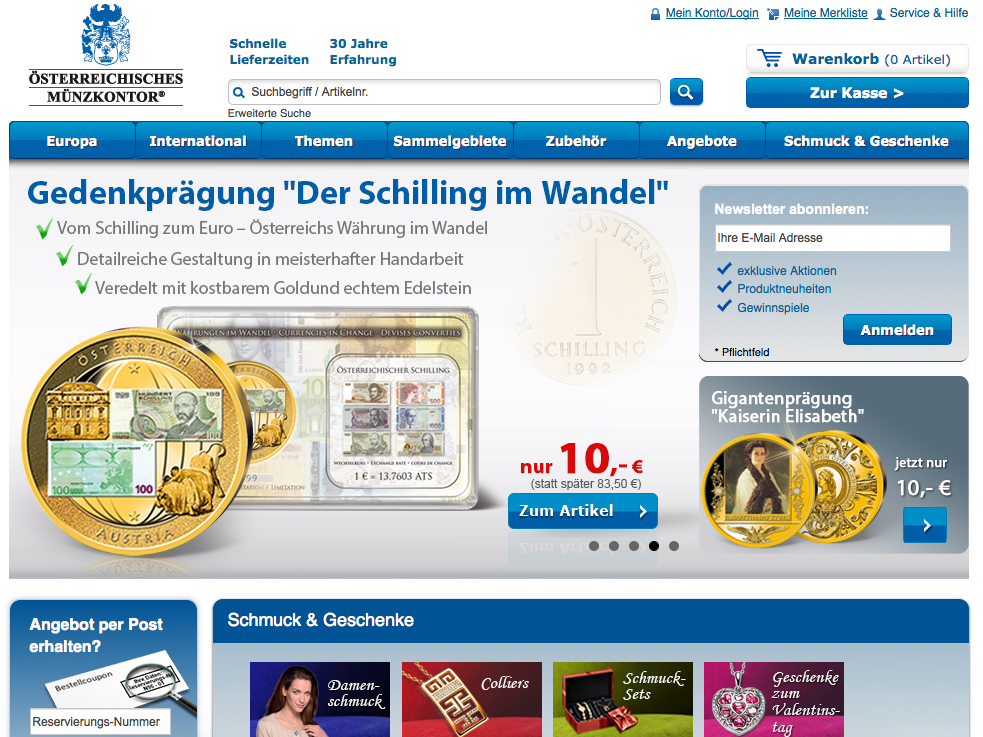 Österreichisches Münzkontor Gutschein