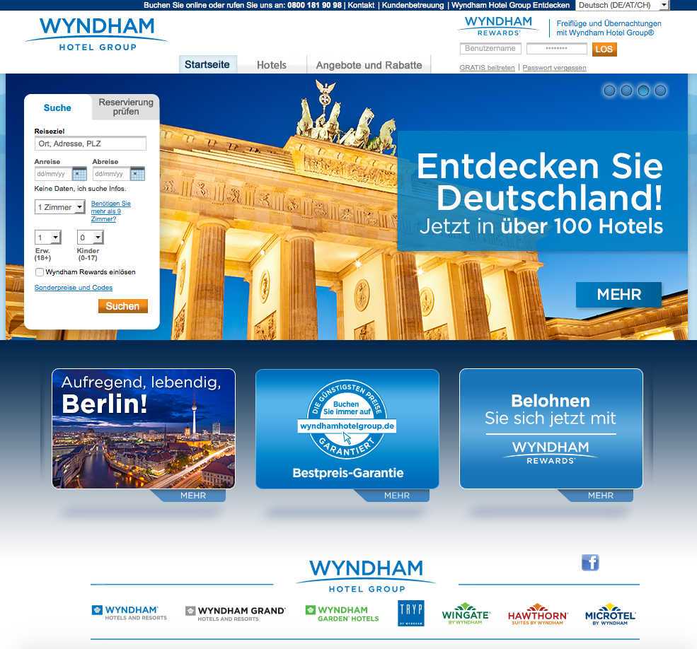Wyndham Hotel Group Gutschein