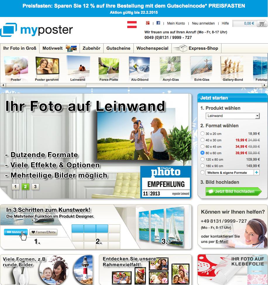 myposter AT Gutschein