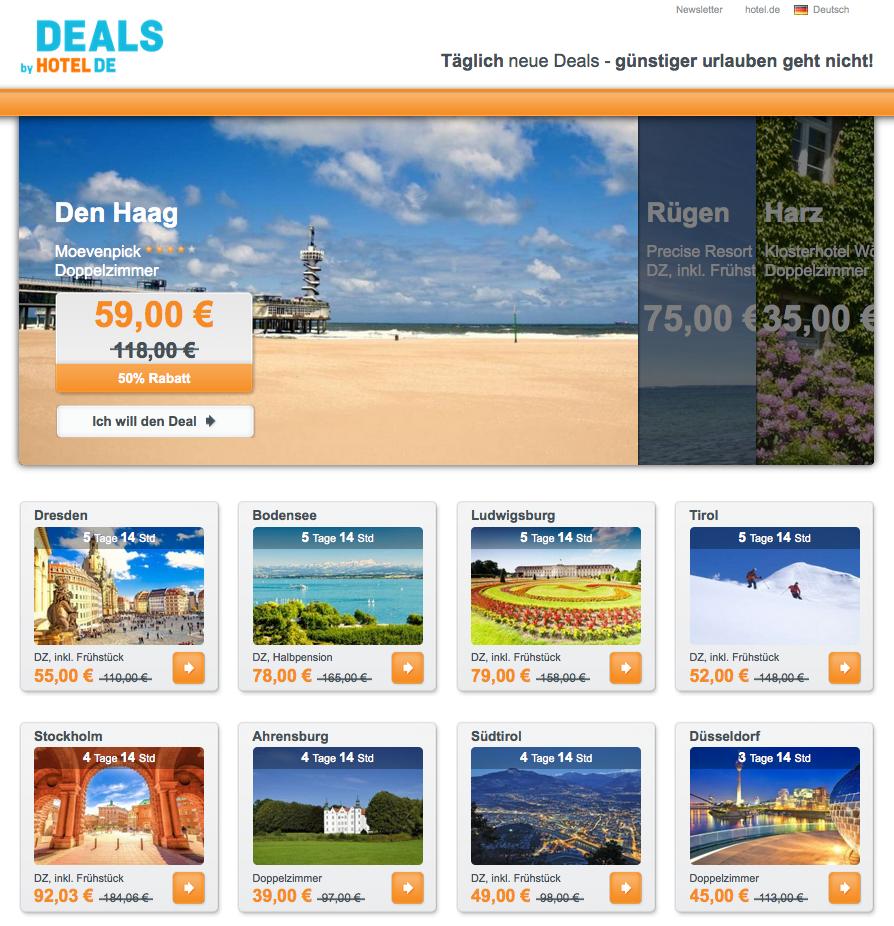 HOTEL DE Deals Gutschein