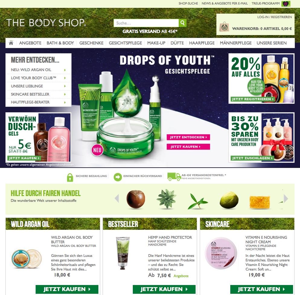 The Body Shop AT Gutschein