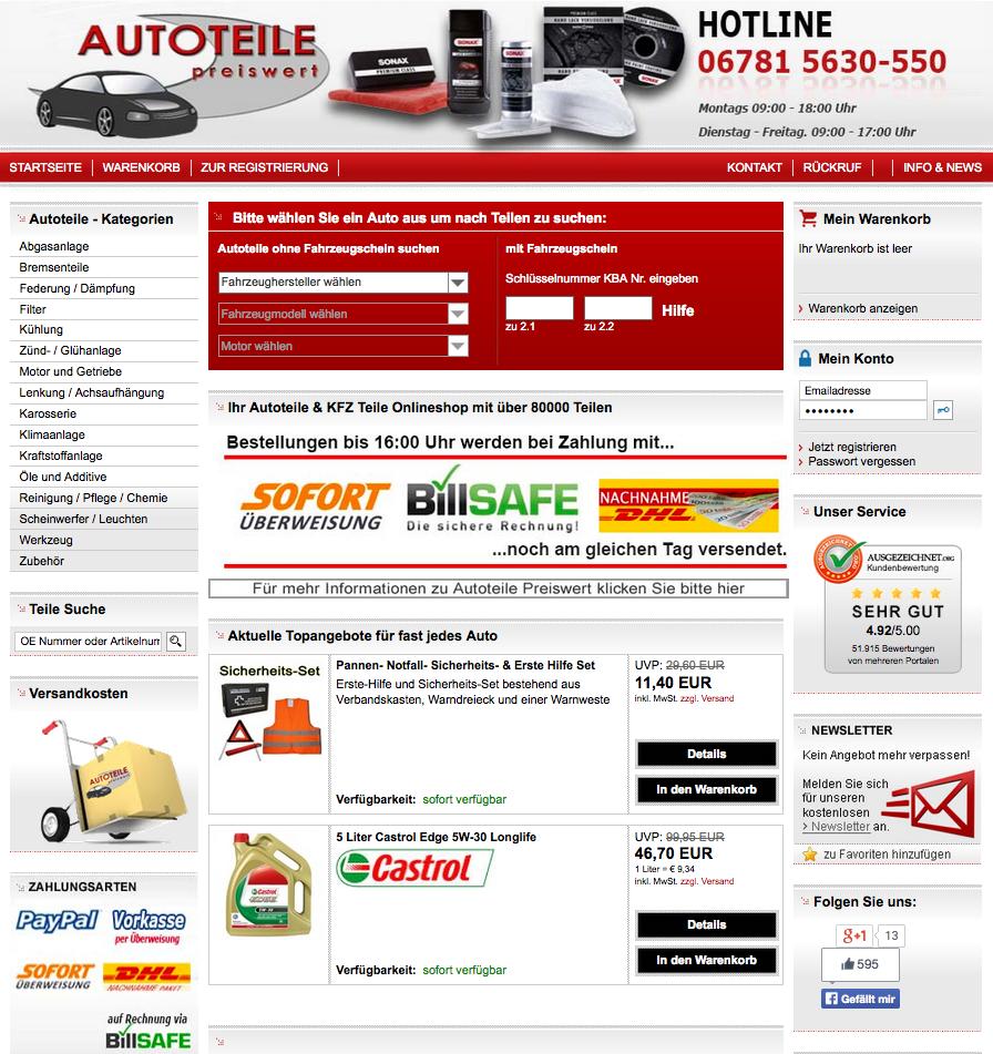Autoteile-Preiswert Gutschein