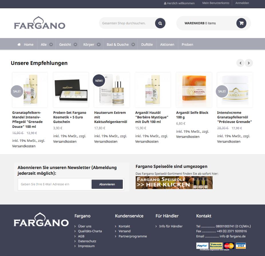 Fargano Cosmetics Gutschein