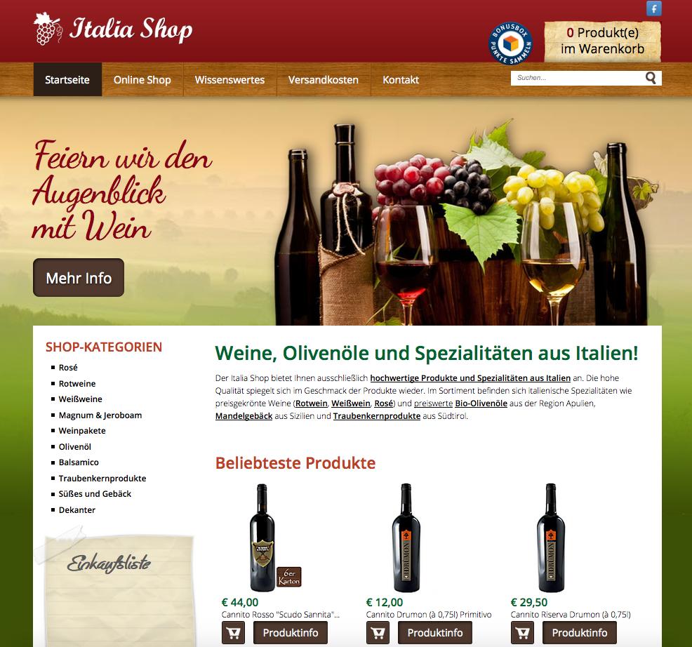 Italia Shop Gutschein