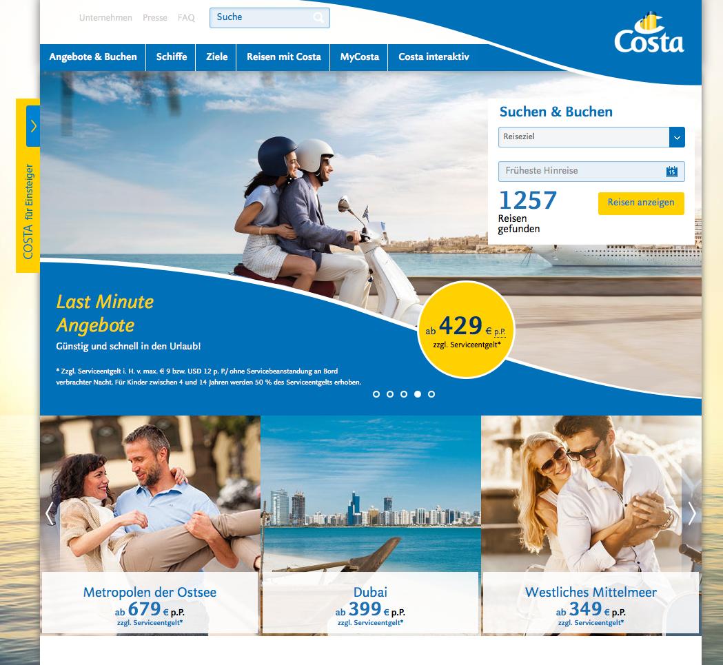 Costa Kreuzfahrten Gutschein