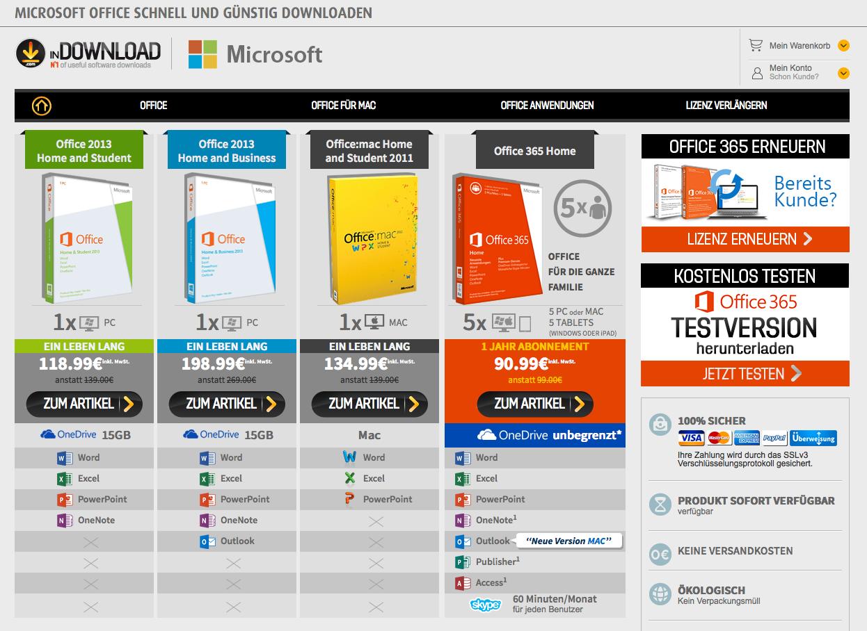 Microsoft.in-download.de Gutschein