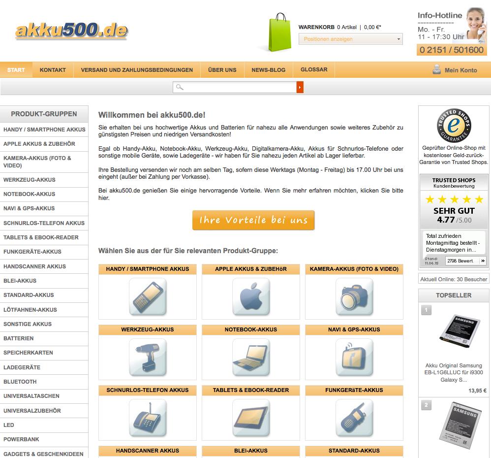 akku500.de Gutschein
