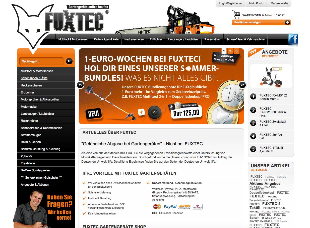 FUXTEC Gutschein