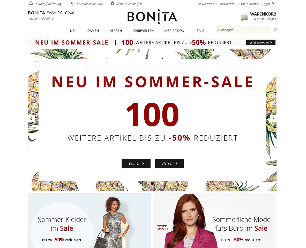 BONITA Gutschein