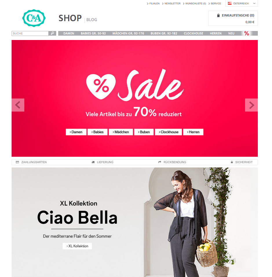 C&A Onlineshop AT Gutschein