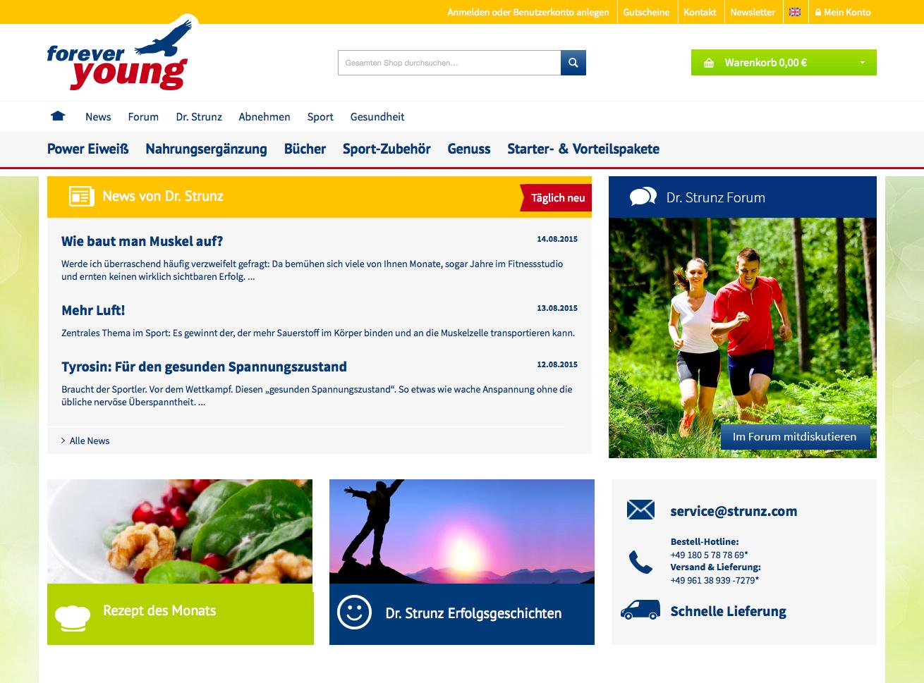 forever young - strunz.com Gutschein