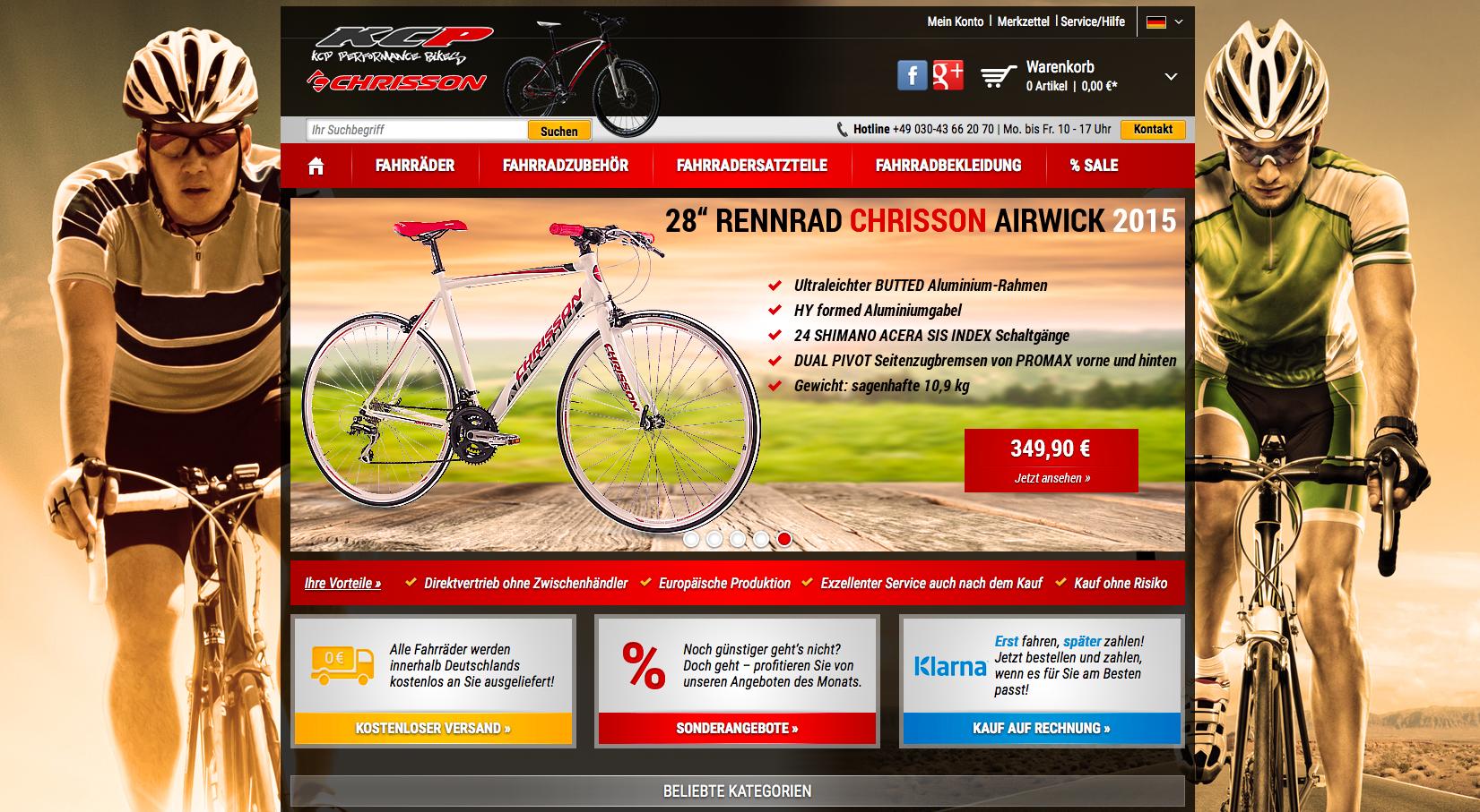 kcp-bikes.de Gutschein