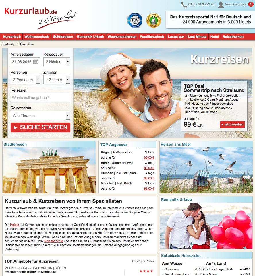 Kurzurlaub.de Gutschein