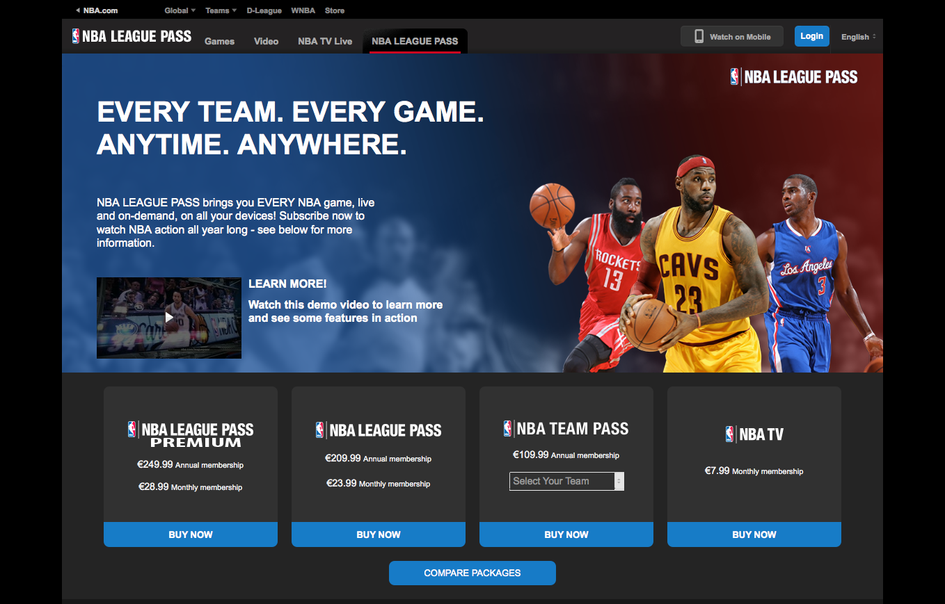NBA League Pass Gutschein