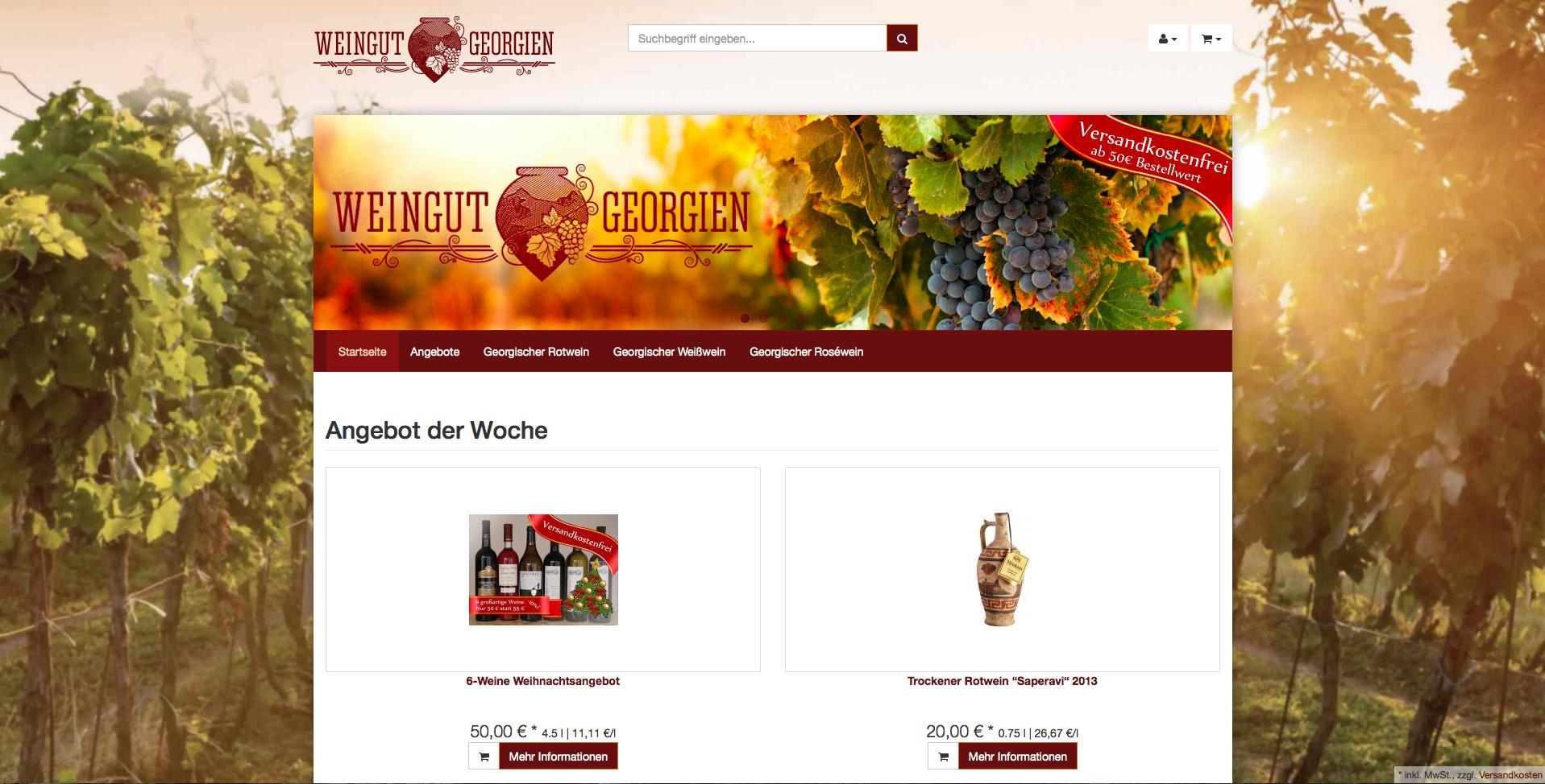 Weingut Georgien Gutschein