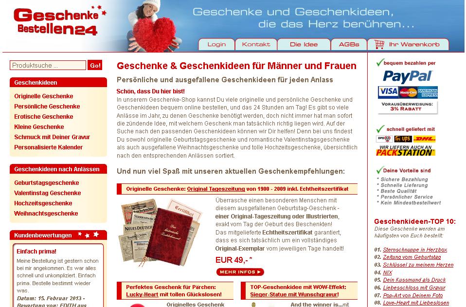 Geschenke-Bestellen24.de Gutschein