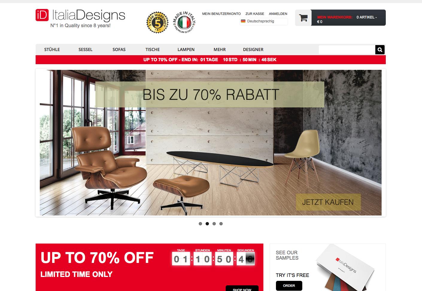 Italia Designs Gutschein