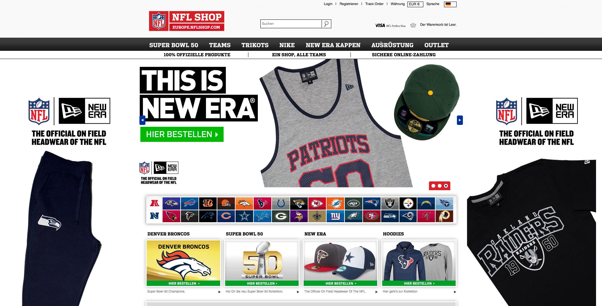 NFL Europe Shop Gutschein