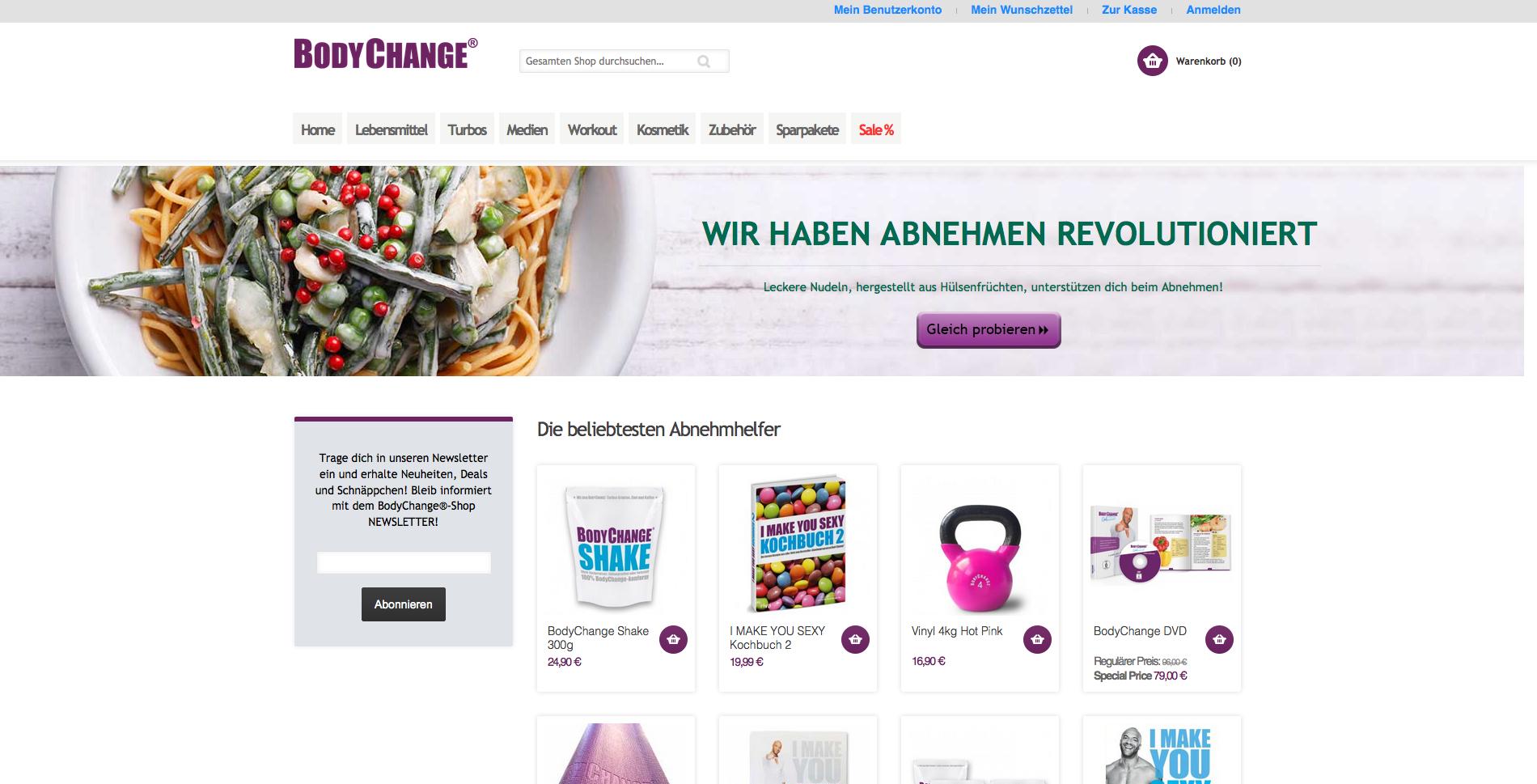Bodychange Shop Gutschein