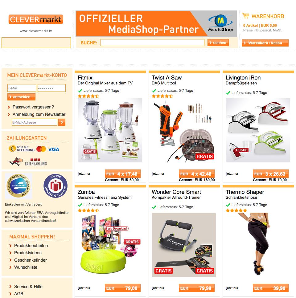 Clevermarkt.tv Gutschein