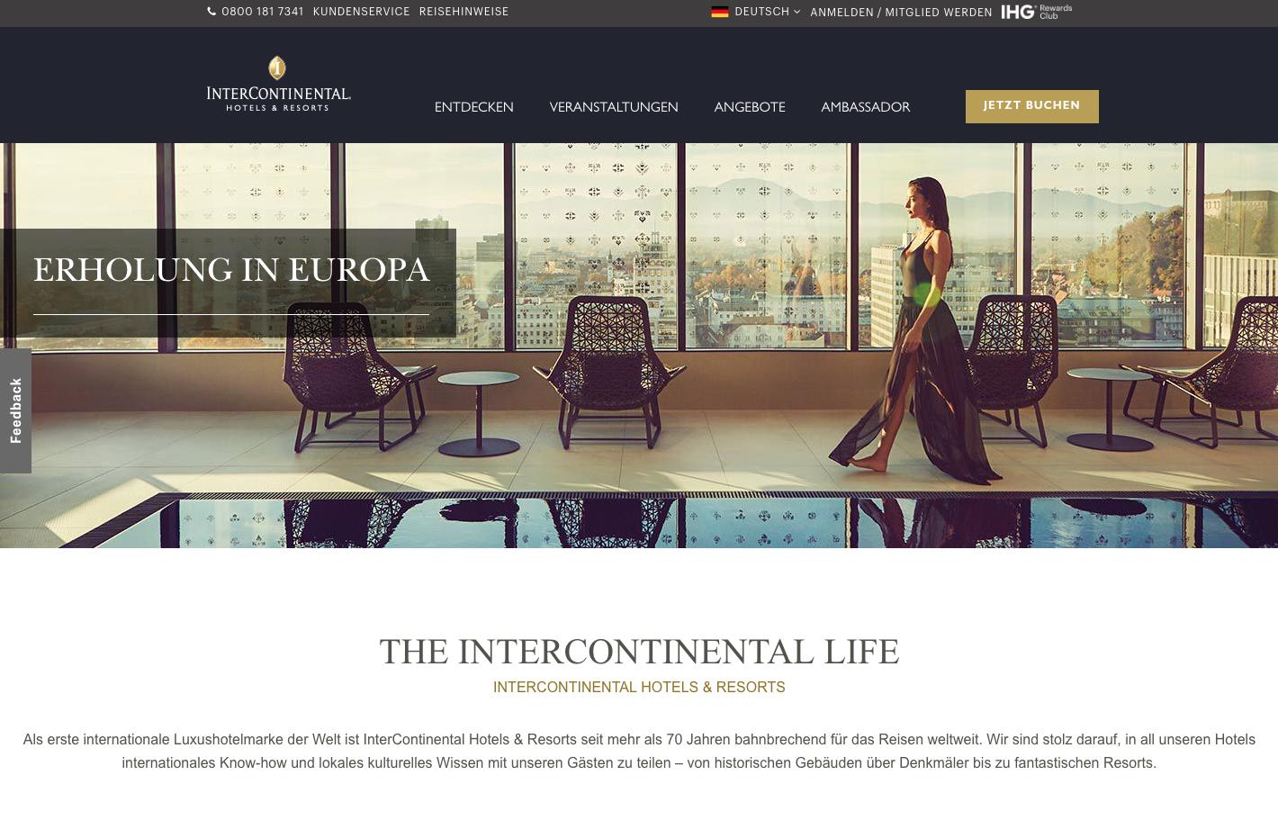 InterContinental Hotels & Resorts Gutschein