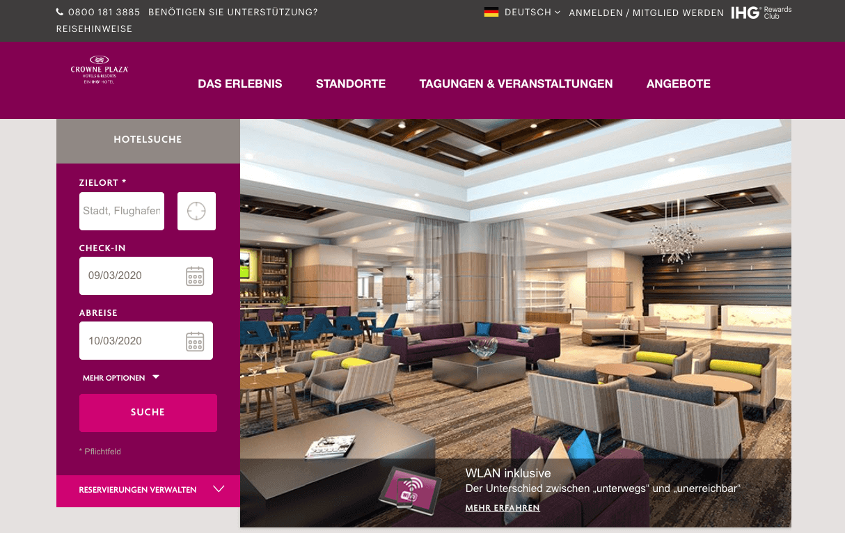 Crowne Plaza Hotels & Resorts Gutschein