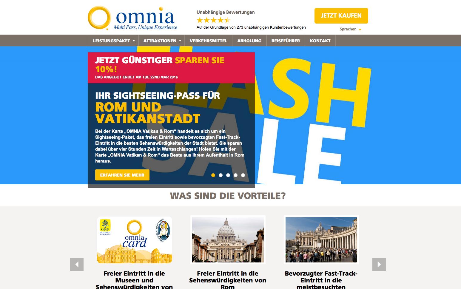Omnia Rome & Vatican Pass Gutschein