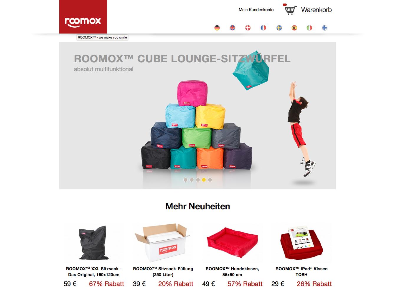 Roomox Gutschein