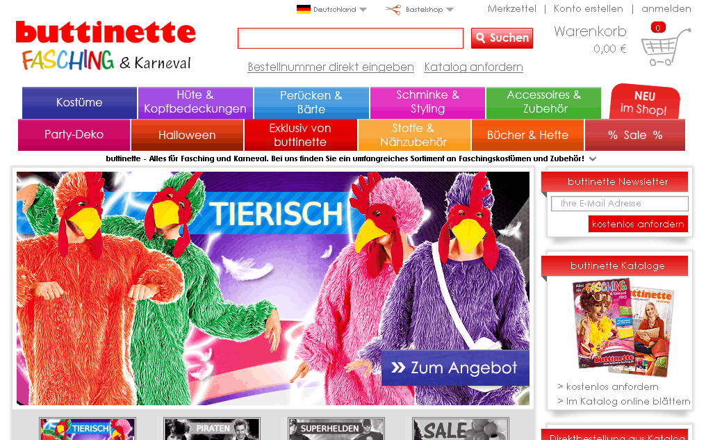buttinette-fasching.de Gutschein