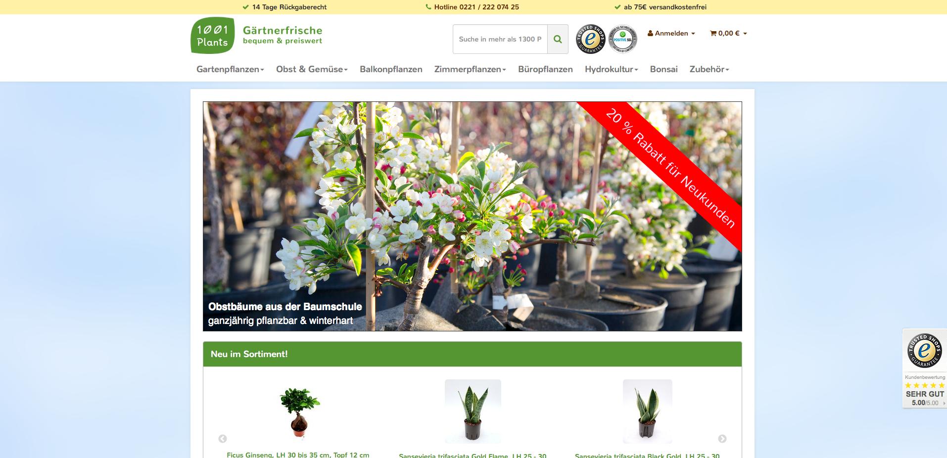 1001plants.de Gutschein