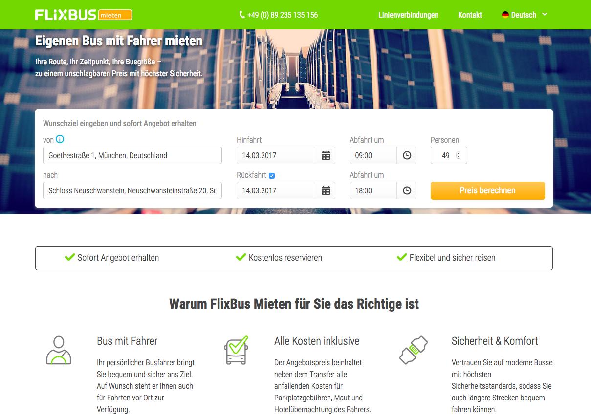 FlixBus Mieten Gutschein