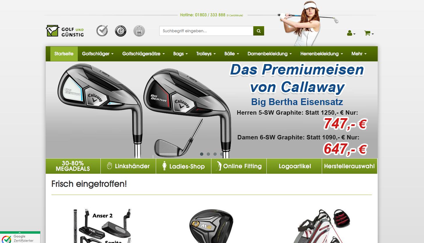 Golf und Guenstig DE Gutschein