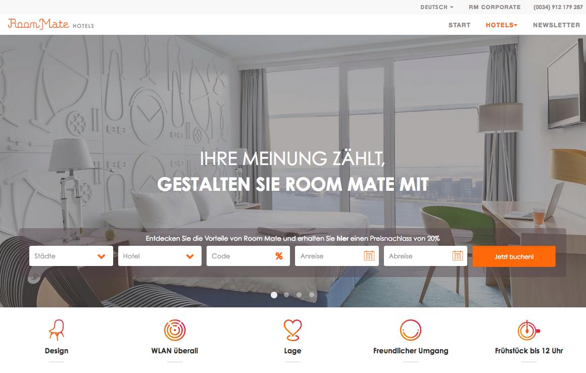 RoomMate-Hotels Gutschein