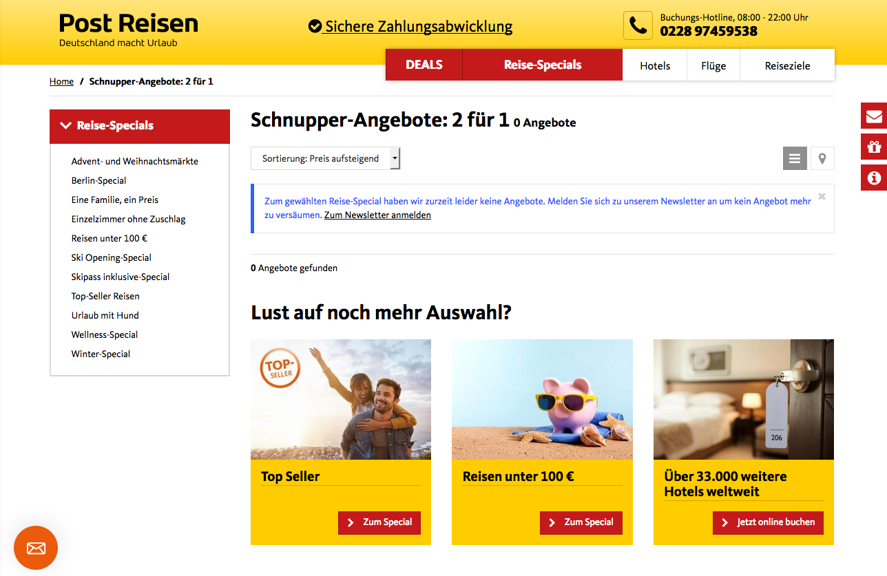 Post Reisen Gutschein