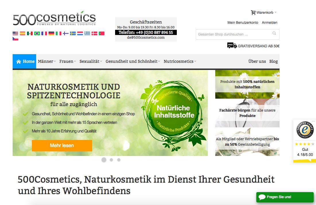 500cosmetics Gutschein