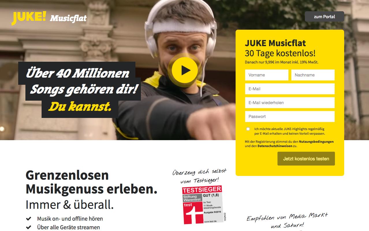 JUKE Musicflat Gutschein