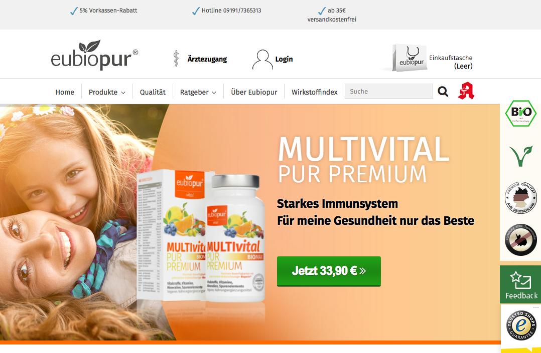 eubiopur Gutschein