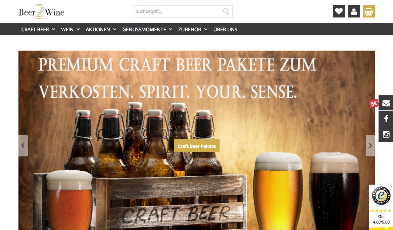 beer2wine Gutschein