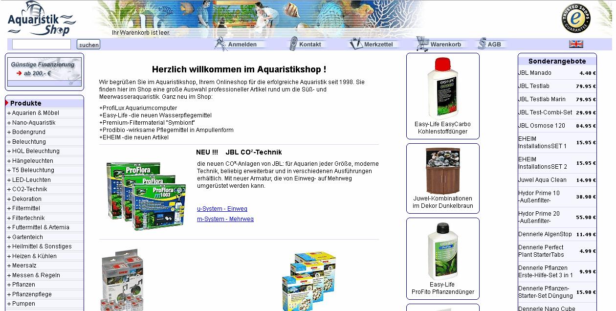 Aquaristikshop Gutschein